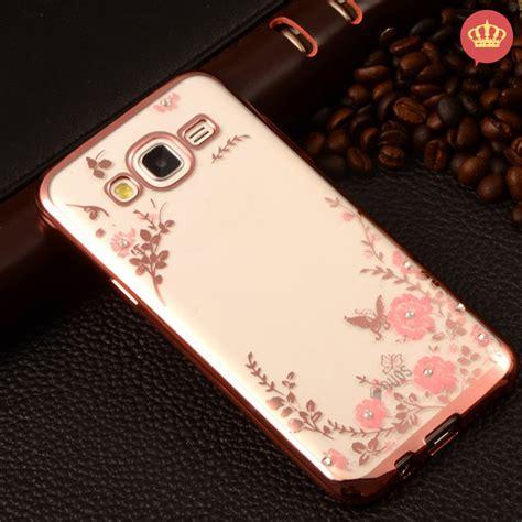 Samsung J7 Prime Softcase Gliter capinha para celular galaxy j5 silicone flor strass