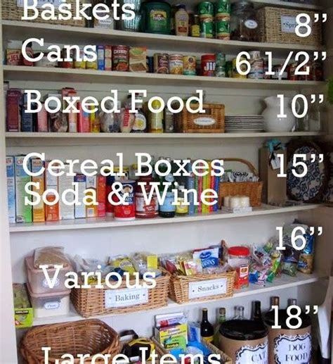 pantry shelf spacing organized pantry shelf spacing for the home