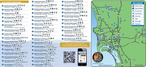 san francisco breweries map brewery san diego and brochures on