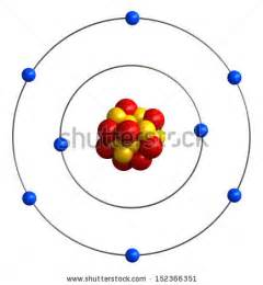 Protons In Titanium Oxygen Atom Stock Images Royalty Free Images Vectors