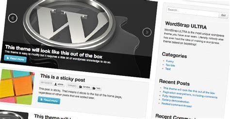 theme wordpress ultra simple wordstrap ultra a bootstrap wordpress theme lee jordan