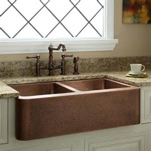 kitchen sinks farmhouse 35 quot bowl hammered copper farmhouse sink kitchen