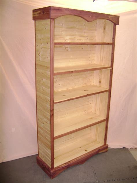 beaded pine and cedar bookcase by bowtie