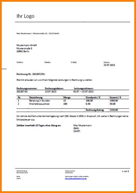 Musterrechnung Ausfuhrlieferung 14 Musterrechnung Kleinunternehmer Doc Sponsorshipletterr
