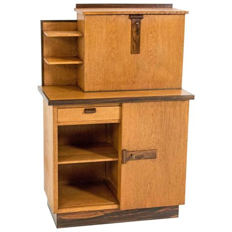 Bookcase With Drop Desk by Deco Haagse School Bookcase With Drop Front Desk