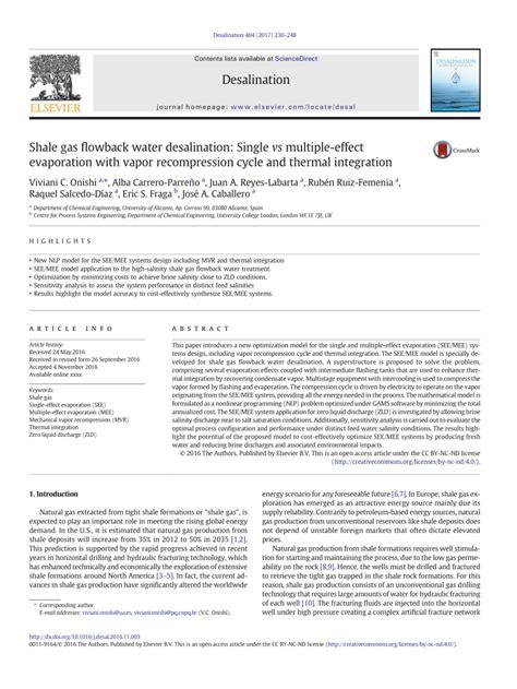 design of multiple effect evaporator pdf shale gas flowback water desalination pdf download