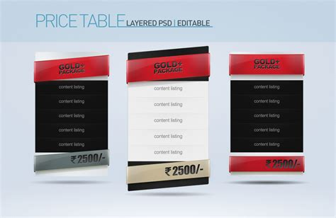 10 flat pricing table tags templates psd for plan design price table set of 3 psd by nishithv on deviantart