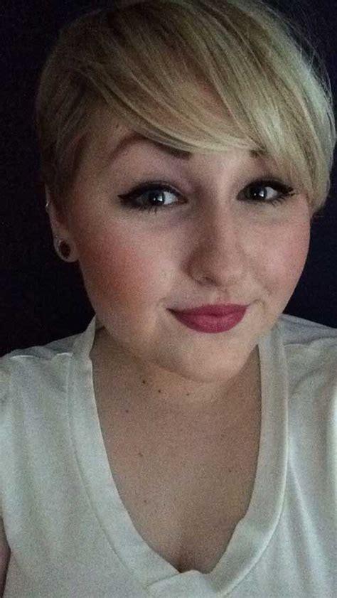 pretty short haircuts  chubby  face short