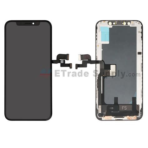 apple iphone xs lcd screen and digitizer assembly with frame black grade s etrade supply