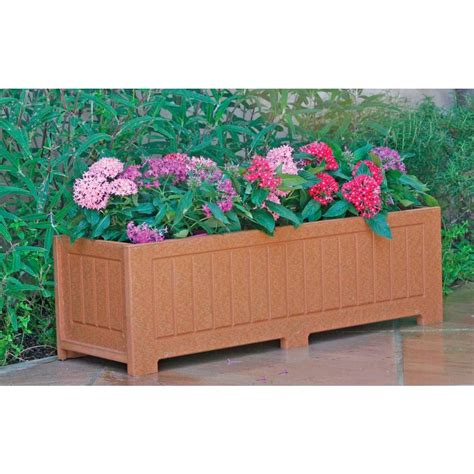 Recycled Planter Boxes by Eagle One 34 In X 12 In Cedar Recycled Plastic