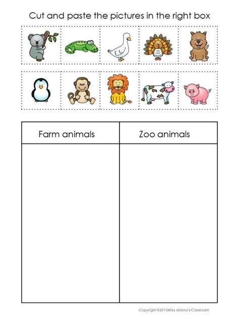 wb themes game answers animals sorting set zoo animals farms and in color