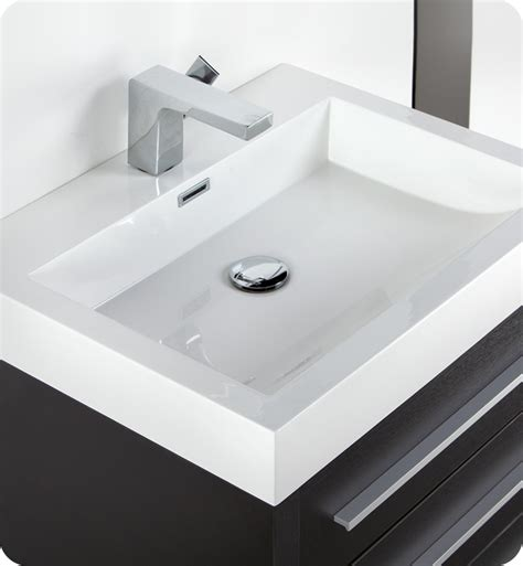 Modern Sinks For Bathroom Fresca Livello 24 Quot Black Modern Bathroom Vanity With Medicine Cabinet