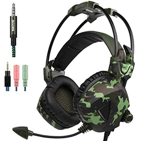 Headset Army Air Bass Stereo Microphone sades sa 931 stereo gaming headphones with mic army green