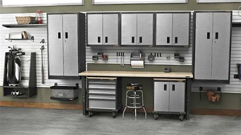 Garage Workbench Designs garage storage packages gladiator 174