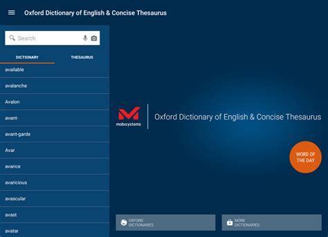 oxford dictionary mobile oxford dictionary of and thesaurus 9 0