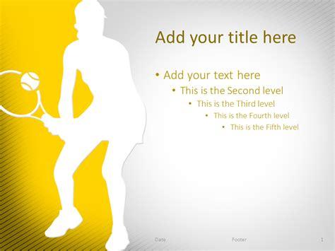 template ppt sport free tennis powerpoint template yellow presentationgo com