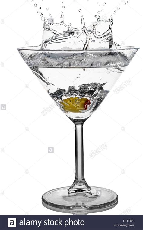 martini glass background cocktail olive splash on martini glass with white