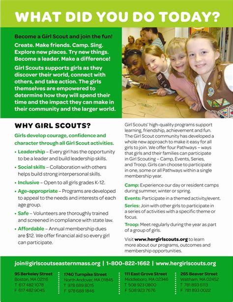 girl scout templates for flyers girl scouts registration night is next tuesday