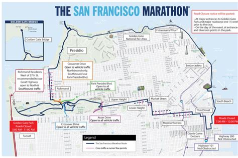 san francisco race map san francisco marathon closures and muni
