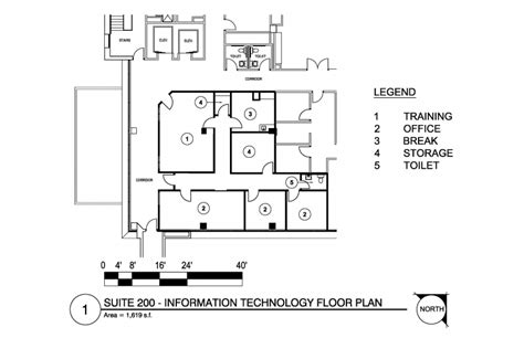 Technical Floor Plan by Sparks Medical Office Building J R Romero Architect