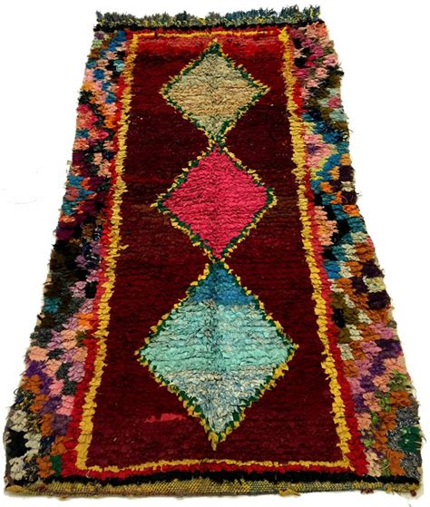 Berber Rug Moroccan Berber Rug Boucherouite 230 X 130 Cm Rag Rugs
