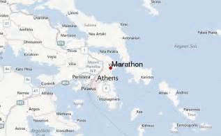 Marathon Greece Map by Marathon Location Guide