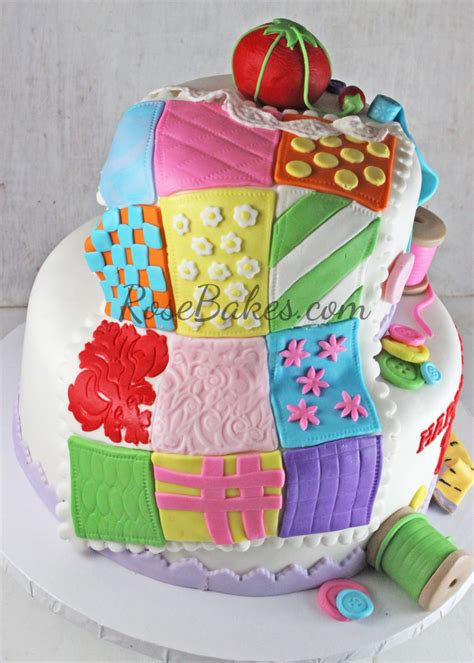 Quilting A Cake by 70th Birthday Sewing Quilting Cake Bakes