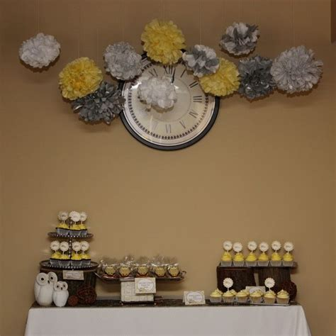Yellow And Grey Owl Baby Shower by Owl Theme Yellow And Gray Baby Shower Ideas