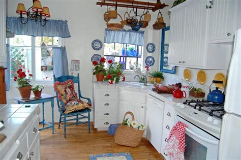blue kitchen decor ideas 20 best country kitchen design ideas