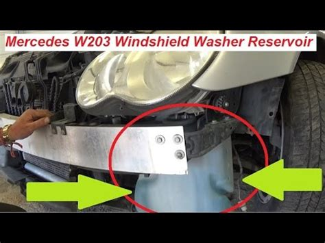 mercedes w203 windshield washer reservoir tank replacement