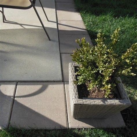 diy patio expansion add 16x16 pavers around builder