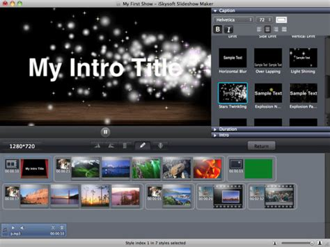 maker intro templates iskysoft slideshow maker for mac start user guide