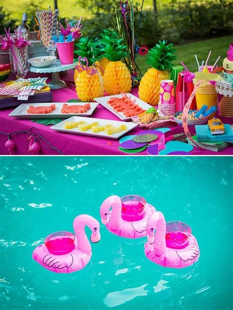 pool theme decorations 25 best ideas about luau bridal shower on