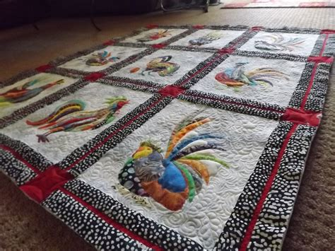 Rooster Quilts by Radical Roosters Quilt Now Quilted