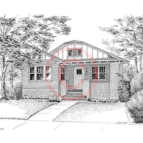 houses drawings pen and ink artist kelli swan custom portraits of houses
