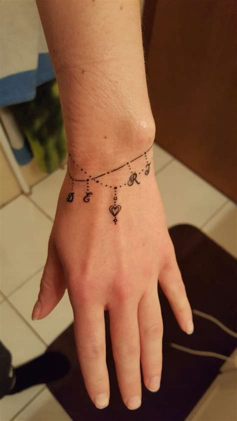 tattoo designs for wrist bracelet 115 best charm bracelet tattoos images on