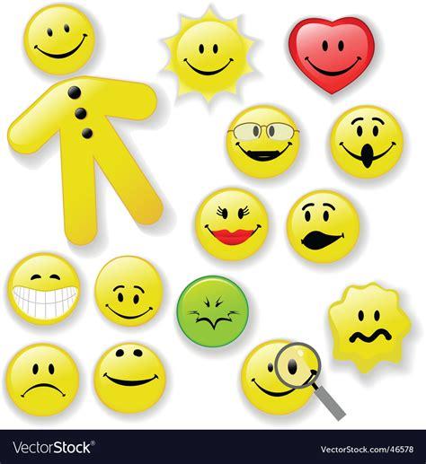 royalty free stock photo vector smiley faces botellas smiley face button emoticon family royalty free vector image