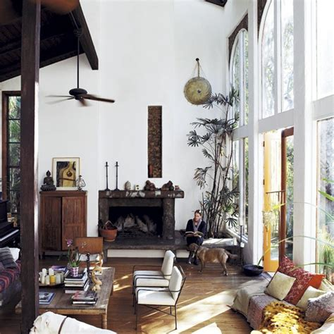double height living room decordemon tatjana patitz s house in california