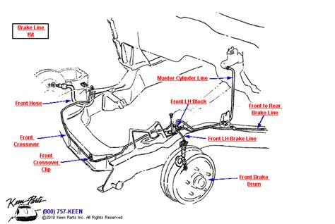 brake line diagram 1965 corvette front brake lines parts parts
