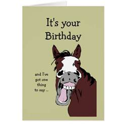 funny horse birthday cartoon romantic silly cards zazzle