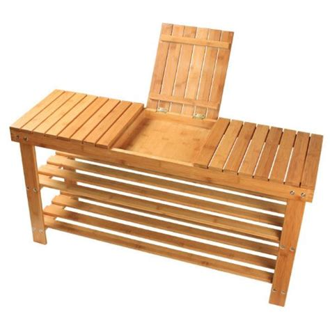 bamboo shoe rack bench sobuy 100 natural bamboo shoe rack bench seat with