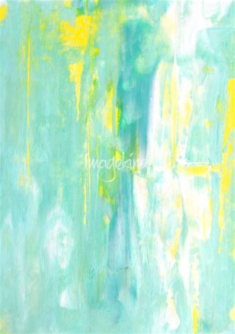 turquoise and yellow spring forward by carollynn tice