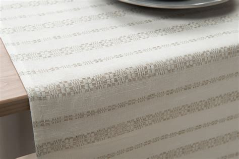 grey and white table runner linen white table runner with grey ornaments linen fashion