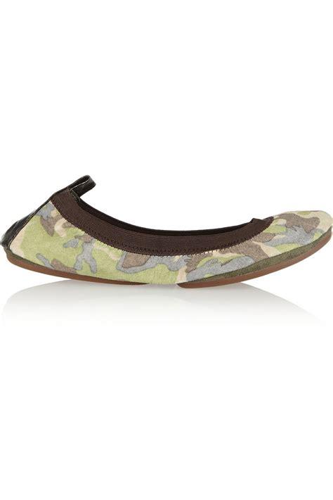 camo flats shoes yosi samra fold up camouflage print leather ballet flats