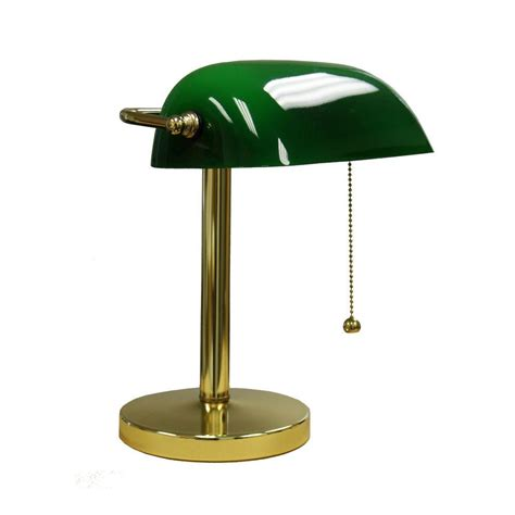 Small Bankers Lamp by Ore International 12 5 In Gold Green Bankers Lamp Kt