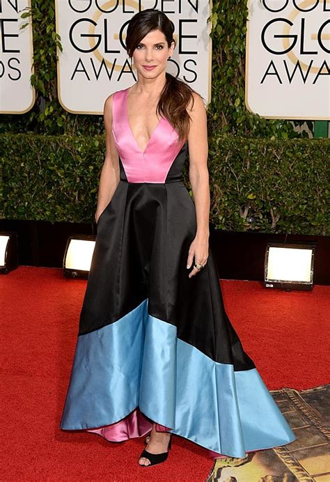 sandra bullock golden globes 2014 see sandra bullock s dress at the 2014 golden globes