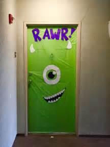 Monsters Inc Halloween Decorations Halloween Door Decoration Monsters Inc Super Easy And
