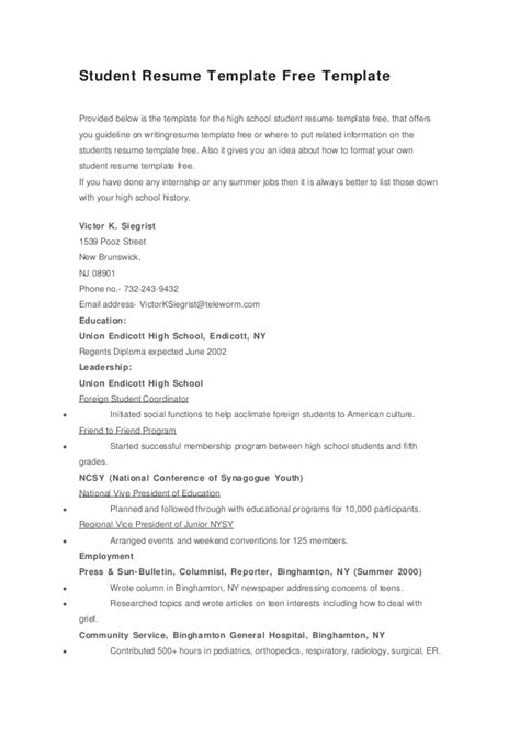 resume templates for highschool students australia high school student resume templates no work experience