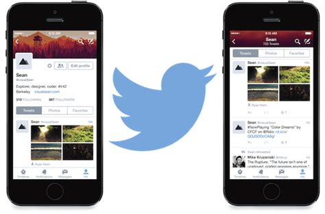 Twitter Iphone Layout | twitter updates iphone app with new profiles new design