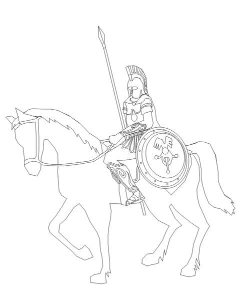 coloring pages of knights and horses and coloring page with spear shield